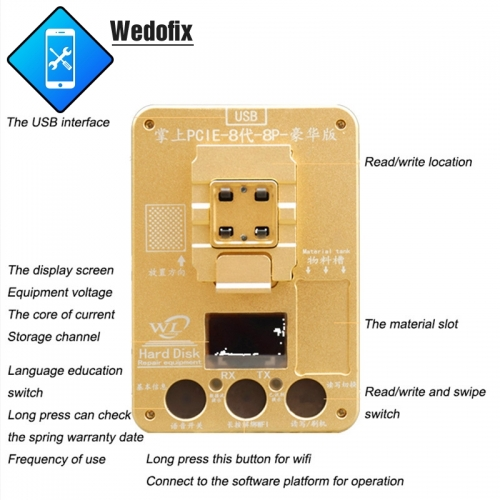 WL Phone NAND Programmer Phone NAND Test Tool Phone NAND Underlying Data Read Writing Tools for iPhone 8 8P X