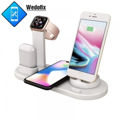 3 in 1 Wireless Charger 10W Stand for Apple iWatch Series and AirPods Fast Charger Station Compatible with iPhone