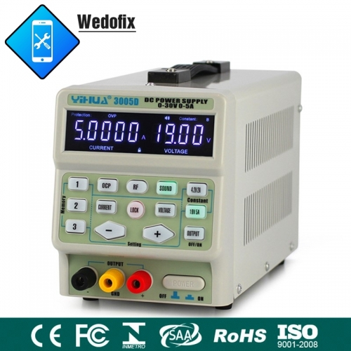 YiHua 3005D 30V 5A Digital DC Power Supply 110V 220V for iPhone Huawei Microsoldering Repair