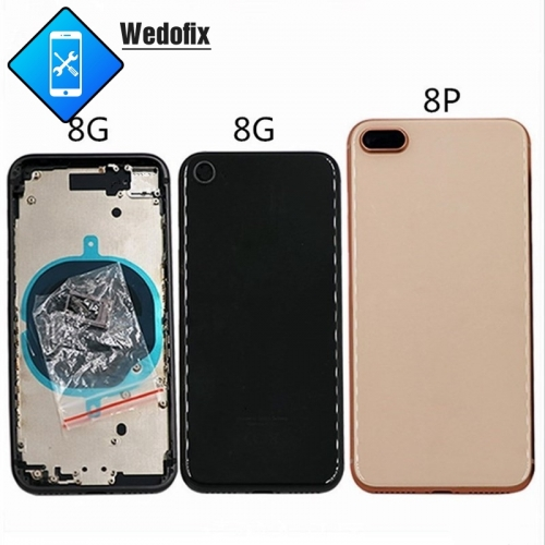 OEM iPhone 8 8P Back Housing Back Cover with Frame