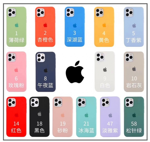 OEM Phone Silicone Case Official Color Case with Logo for iPhone 12 Mini 12pro/max