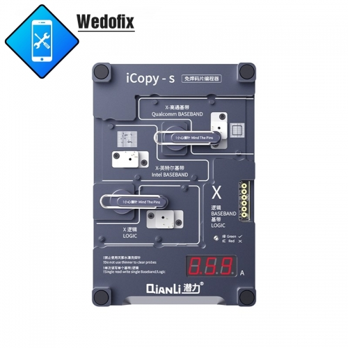 Qianli iCopy S 4 in 1 Phone Logic Baseband EEprom IC Chip Programmer EEprom IC read/write Repair Tool for iPhone 6 6S 7 7P 8 8P X Xr Xs Xsmax