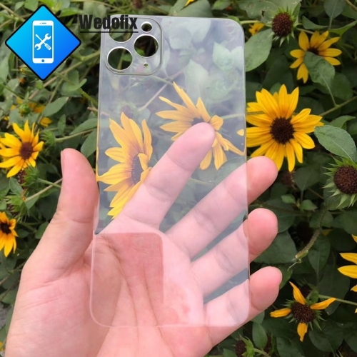 Transparent Back Glass Clear Back Cover Glass without Logo for iPhone 11 11promax 12mini 12 12pro/max