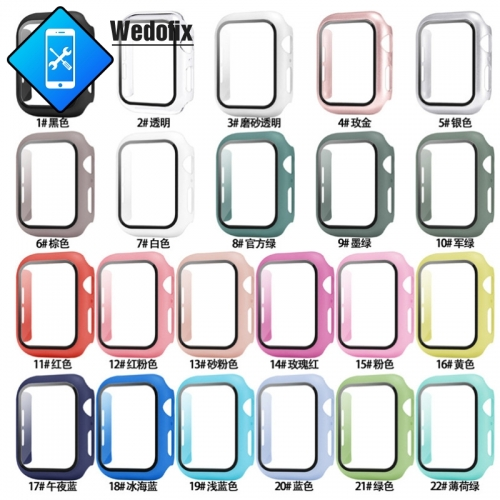 9H iWatch Temper Glass Apple Watch Case iWatch Protector Case for iWatch S1 S2 S3 S4 S5