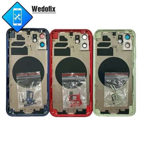 Back Housing Replacement Part Middle Frame Chassis with Back Glass for iPhone 12 12mini